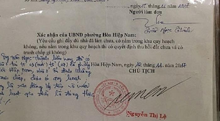 Cán bộ tư pháp giả mạo chữ ký chủ tịch phường để xây nhà trái phép gây xôn xao 1