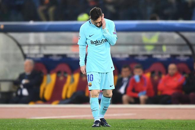 Ánh mắt bất lực, đáng thương của Messi khi Barca chia tay Champions League 3