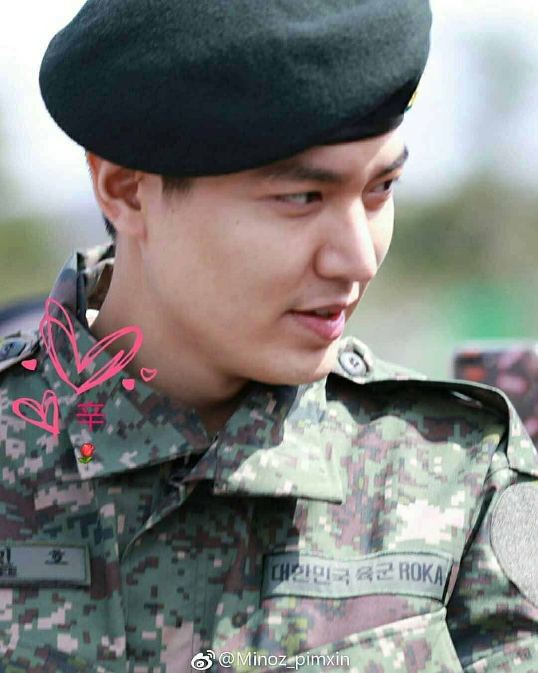 Tài tử Lee Min Ho béo phù cả mặt, nhưng vẫn điển trai với nhan sắc mộc 100\% trong quân ngũ 7