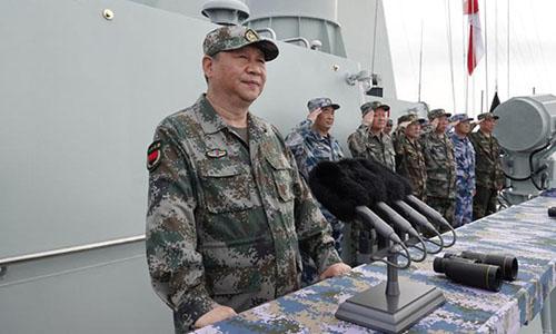 Hình ảnh Tập Cận Bình thị sát hải quân diễu binh ở Biển Đông số 1