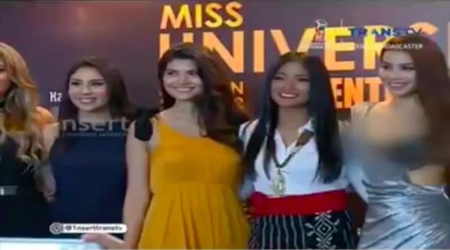 Mặc quá gợi cảm, Hoa hậu Phạm Hương bị che mờ vòng 1 trên truyền hình Indonesia 1