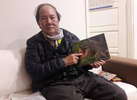 """Nhà rùa học Hà Đình Đức: Chưa thể khẳng định rùa hồ Xuân Khanh là """"hậu bối"""" của rùa Hồ Gươm 2"""