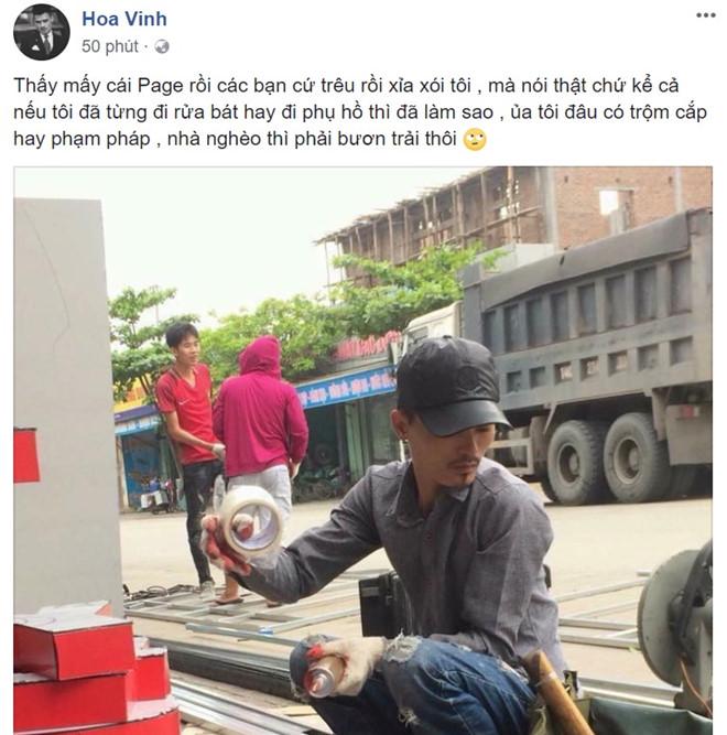 Hoa Vinh lên tiếng về bức ảnh chụp từ thời làm thợ xây: 'Tôi từng đi rửa bát, phụ hồ thì đã làm sao' 2