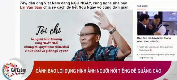 MC Lại Văn Sâm tức giận khi bị lợi dụng hình ảnh quảng cáo thuốc trị ngáy: Đê hèn và khốn nạn 1