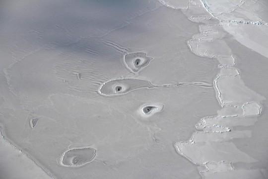 Các lỗ bí ẩn ở Bắc Băng Dương khiến NASA bối rối 1
