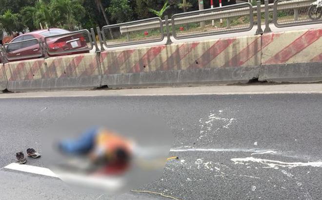 Nam công nhân kẻ vạch sơn đường bị ô tô đâm tử vong 1