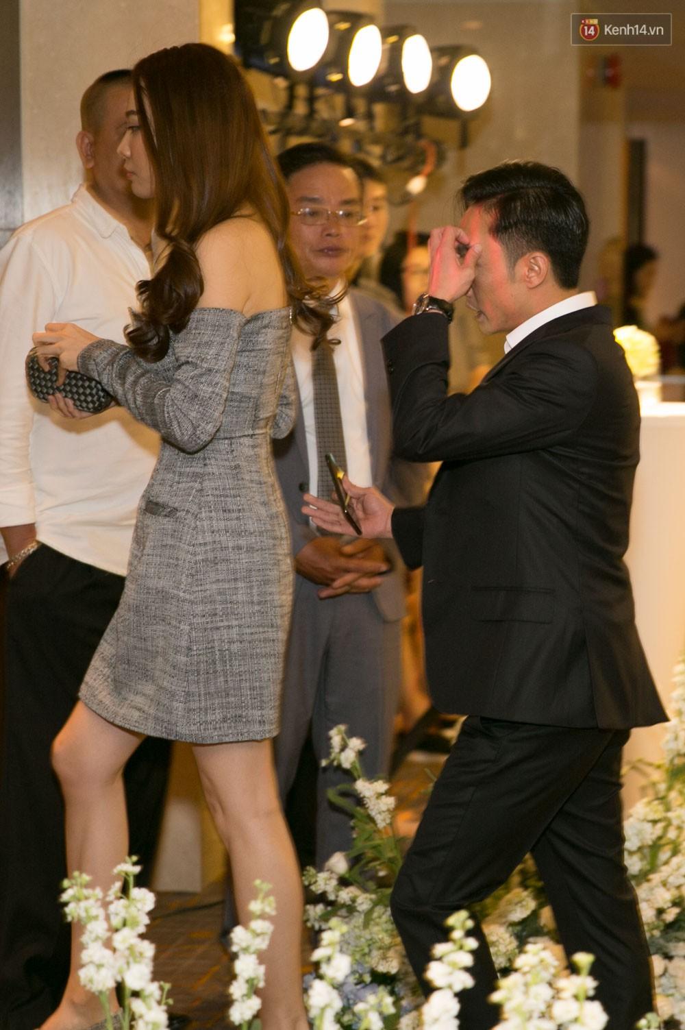 Cường Đô La và bạn gái Đàm Thu Trang cùng nhau đến chúc mừng đám cưới của Diệp Lâm Anh 1