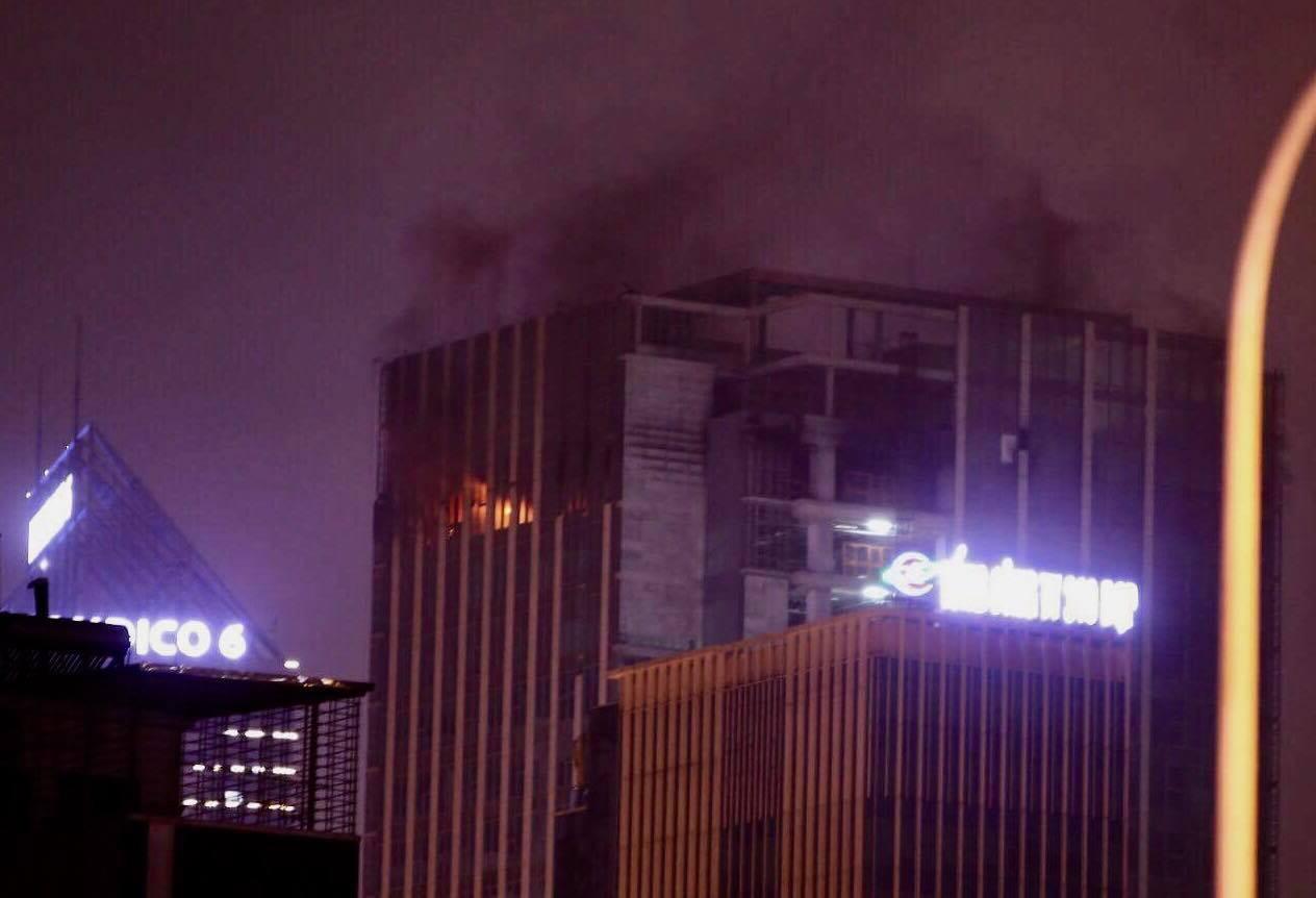 Hà Nội: Cháy toà nhà MB Grand Tower trên đường Lê Văn Lương 1