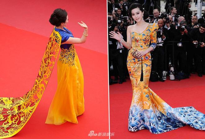 Giả vờ ngã, mặc Hoàng Bào và những 'trò lố' của mỹ nhân Hoa ngữ trên thảm đỏ Cannes 2018 8