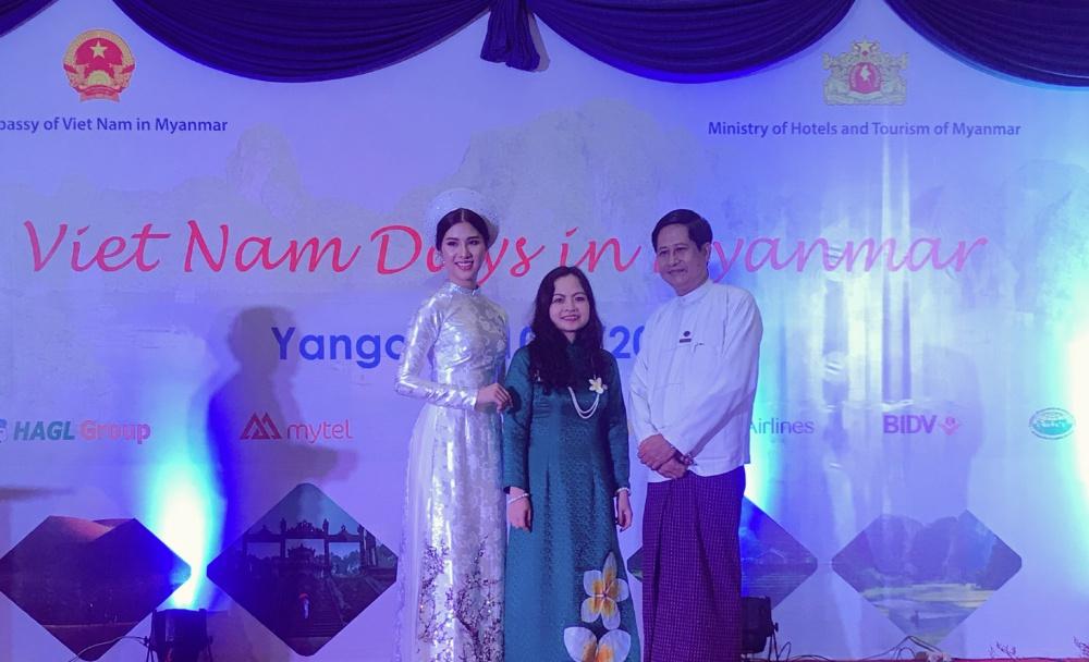 Loan Vương diện áo dài, đội nón lá quảng bá Văn hoá - Du lịch Việt Nam tại Myanmar 4