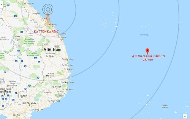 49 ngư dân Quảng Nam đang gặp nguy hiểm giữa biển Đông 1