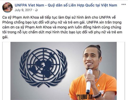 Dính án 'gạ tình', Phạm Anh Khoa bị Quỹ dân số LHQ xóa bỏ vị trí đại sứ 1