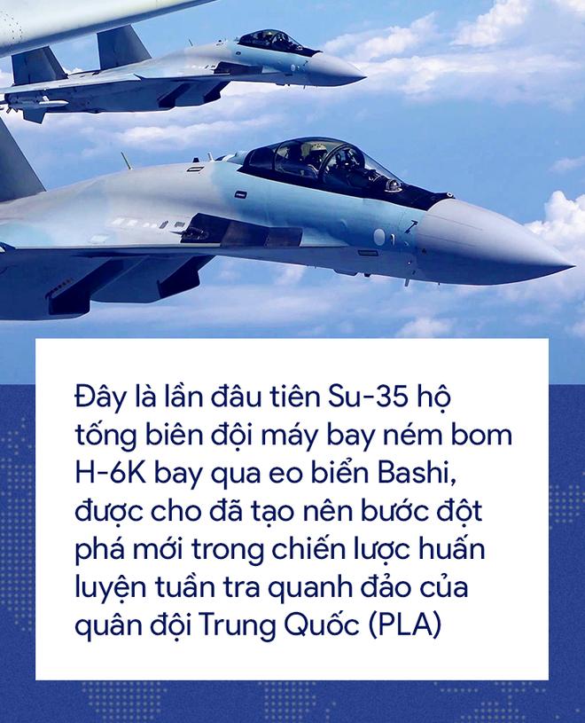 [Photo Story] 'Cơn ác mộng' Su-35 bị bám đuôi trong lần đầu tiên hộ tống H-6K vờn Đài Loan 4