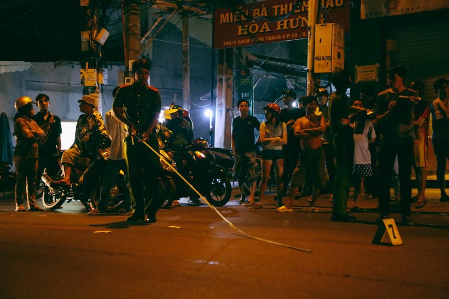 Hiện trường vụ án mạng kinh hoàng trên đường CMT8 khiến 6 hiệp sĩ đường phố bị băng cướp đâm thương vong 6