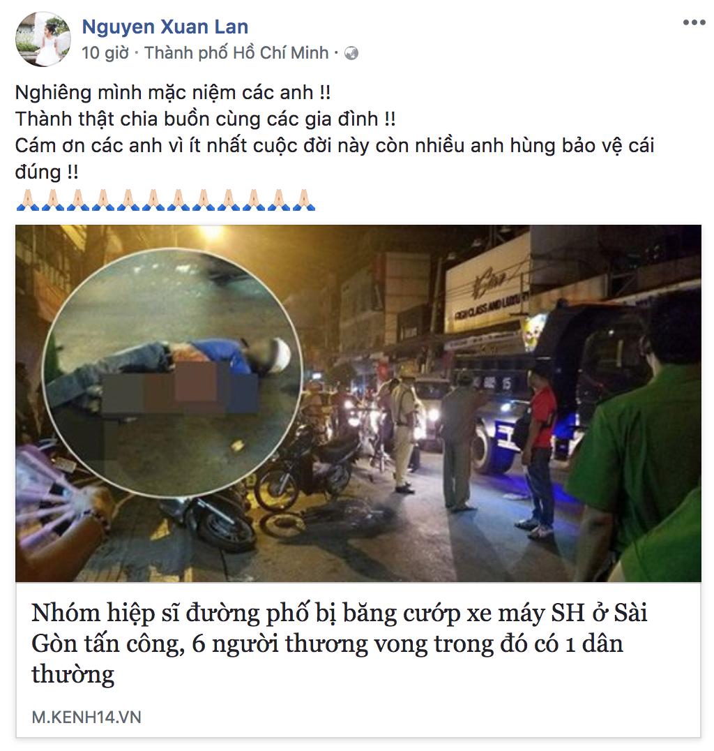 Sao Việt tiếc thương các hiệp sĩ Sài Gòn tử nạn vì truy đuổi cướp 7