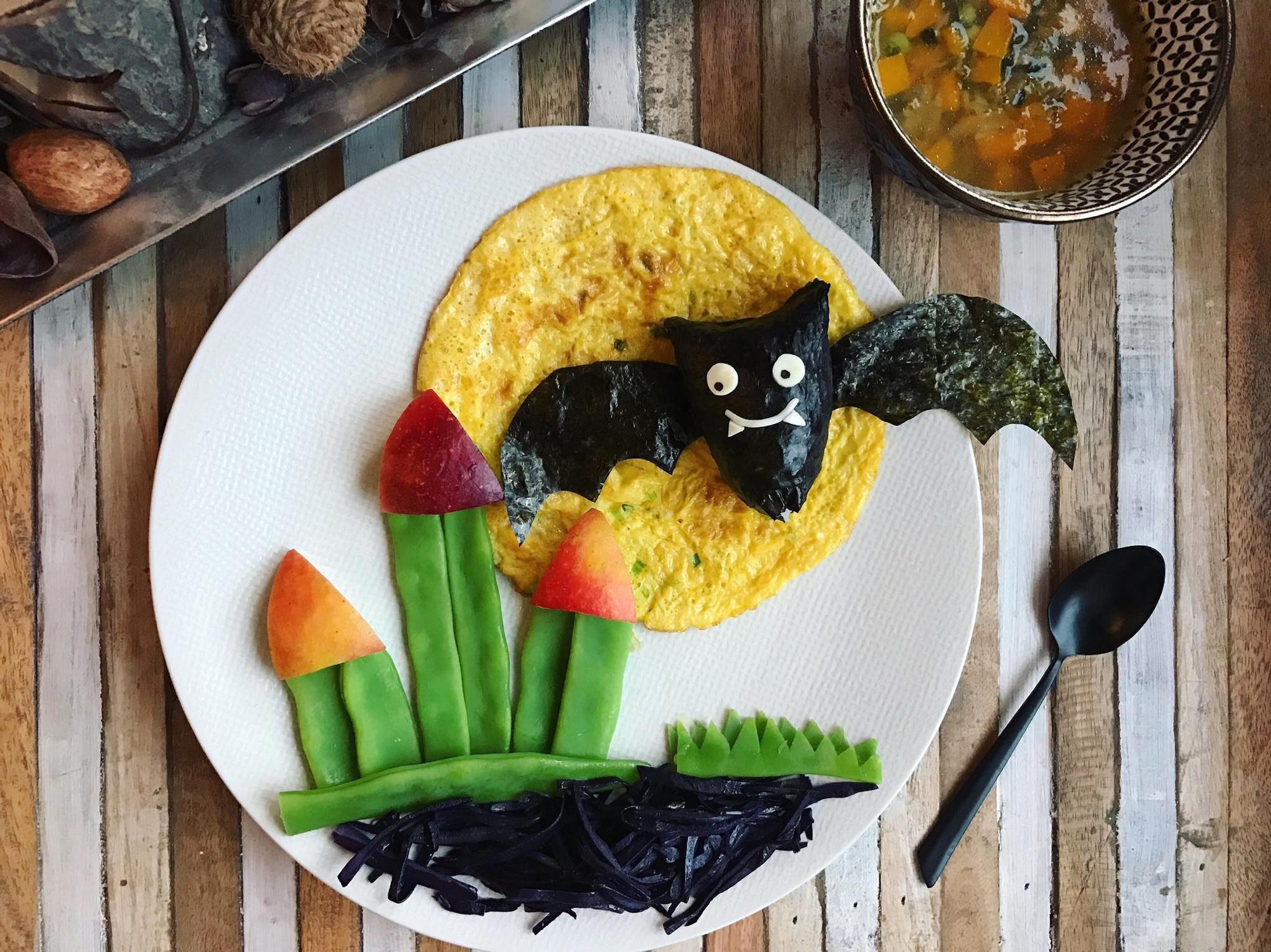 Chùm ảnh: Bà mẹ trẻ mỗi ngày vẽ một bức tranh bằng thức ăn cho con, không ngày nào bị lặp ý tưởng mới tài - Ảnh 9.