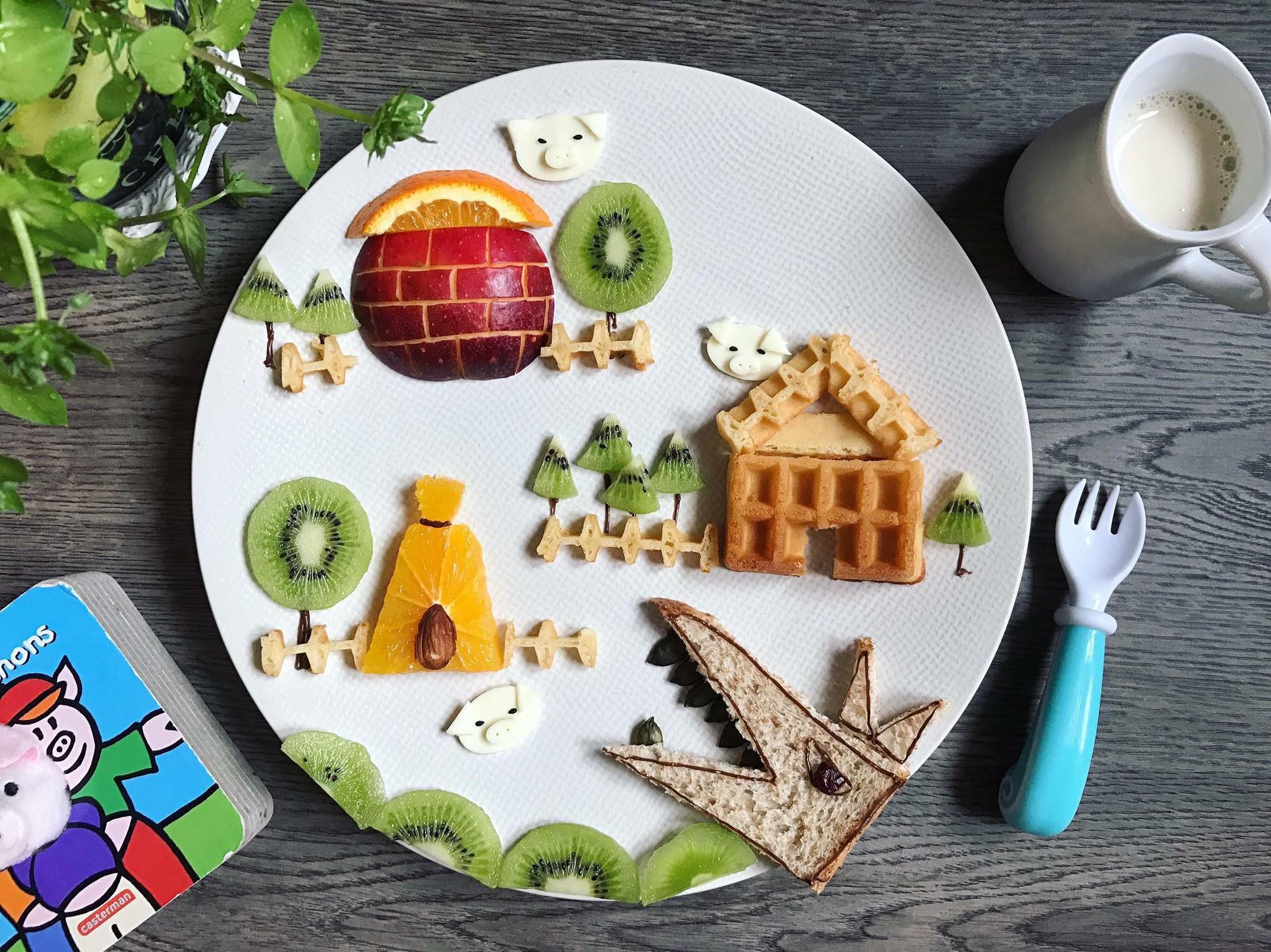 Chùm ảnh: Bà mẹ trẻ mỗi ngày vẽ một bức tranh bằng thức ăn cho con, không ngày nào bị lặp ý tưởng mới tài - Ảnh 18.