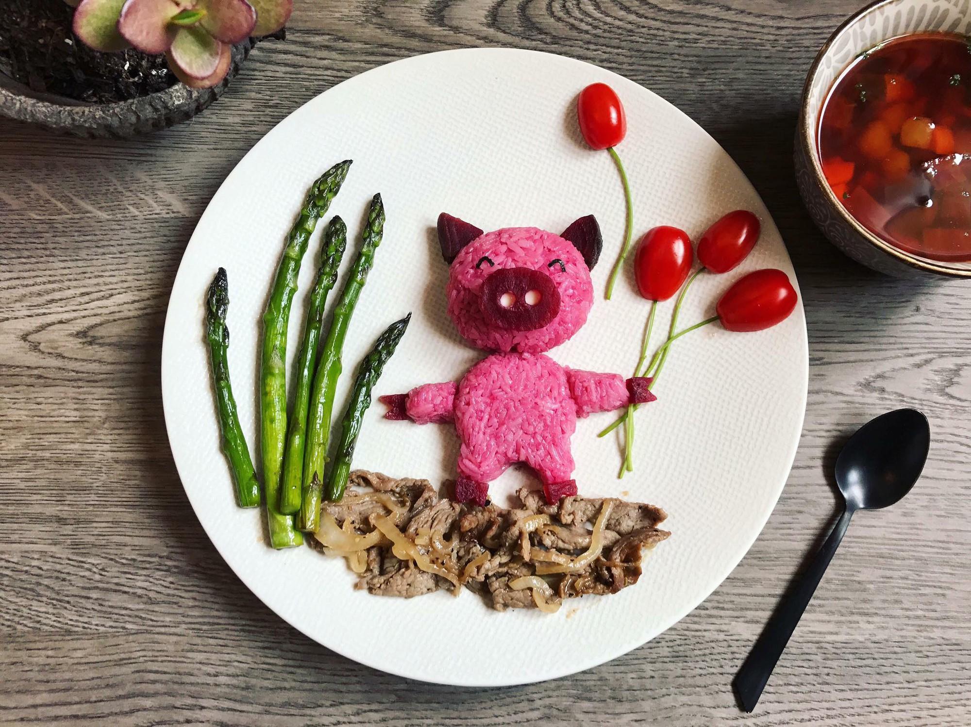 Chùm ảnh: Bà mẹ trẻ mỗi ngày vẽ một bức tranh bằng thức ăn cho con, không ngày nào bị lặp ý tưởng mới tài - Ảnh 19.