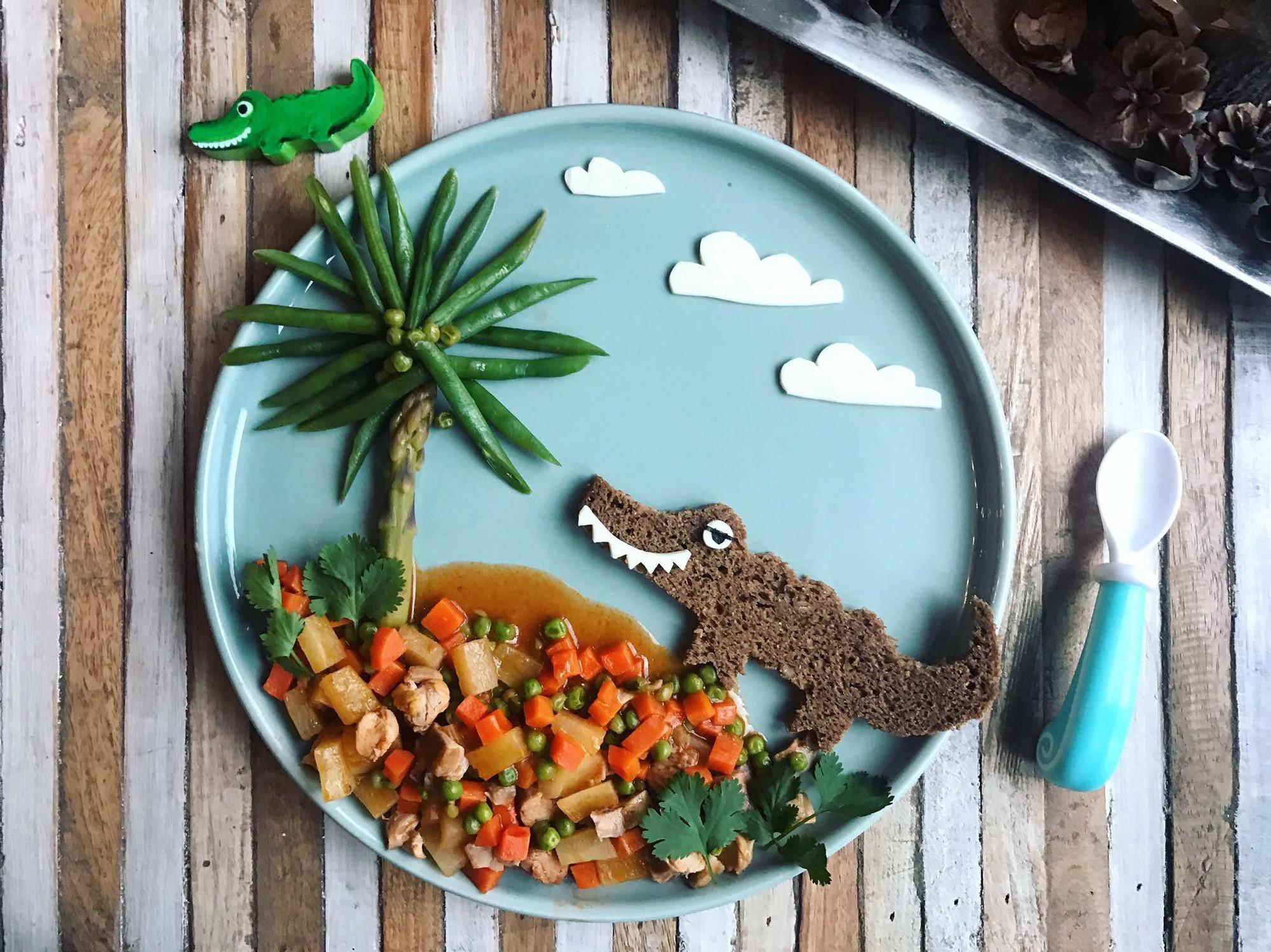 Chùm ảnh: Bà mẹ trẻ mỗi ngày vẽ một bức tranh bằng thức ăn cho con, không ngày nào bị lặp ý tưởng mới tài - Ảnh 23.
