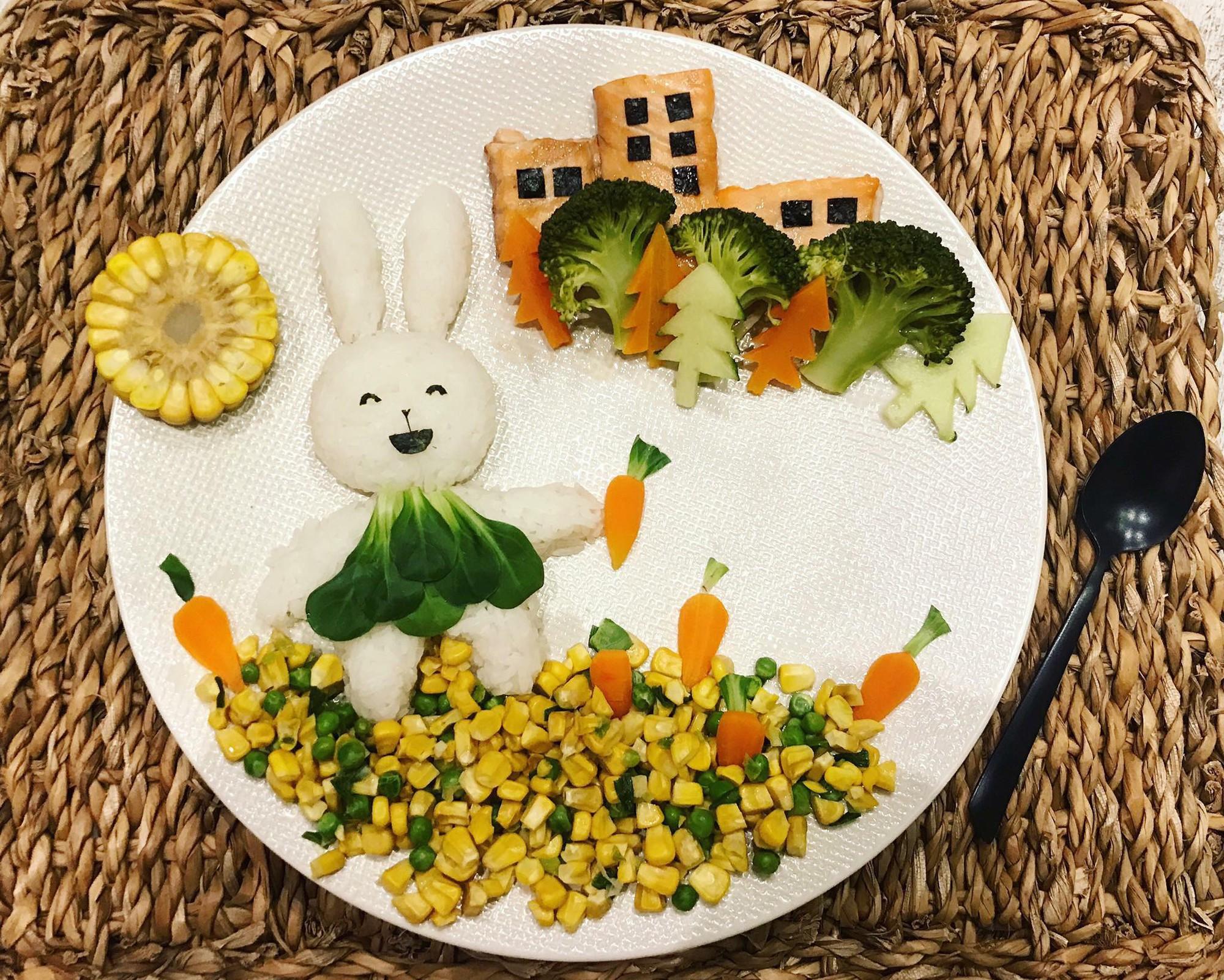 Chùm ảnh: Bà mẹ trẻ mỗi ngày vẽ một bức tranh bằng thức ăn cho con, không ngày nào bị lặp ý tưởng mới tài - Ảnh 28.
