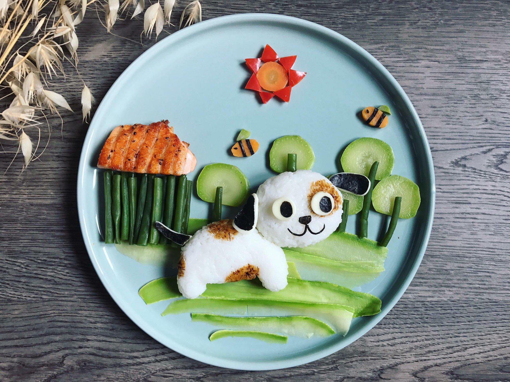Chùm ảnh: Bà mẹ trẻ mỗi ngày vẽ một bức tranh bằng thức ăn cho con, không ngày nào bị lặp ý tưởng mới tài - Ảnh 30.