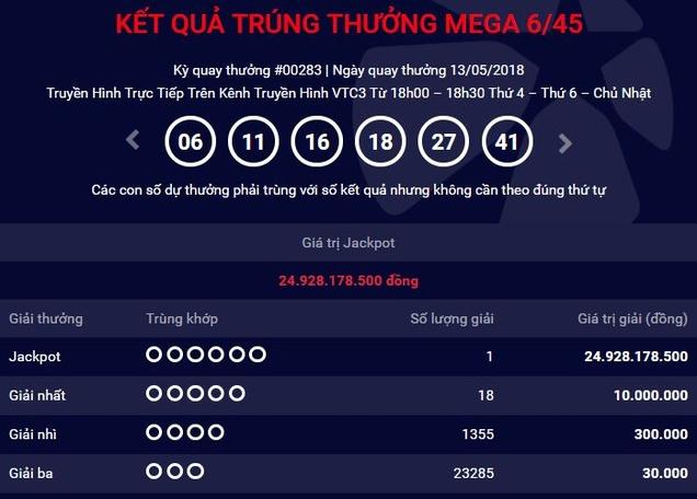 Chủ nhân jackpot 300 tỉ ở Hà Nội chưa xuất hiện, lại lộ thêm jackpot 2 trị giá hơn 4 tỷ  1