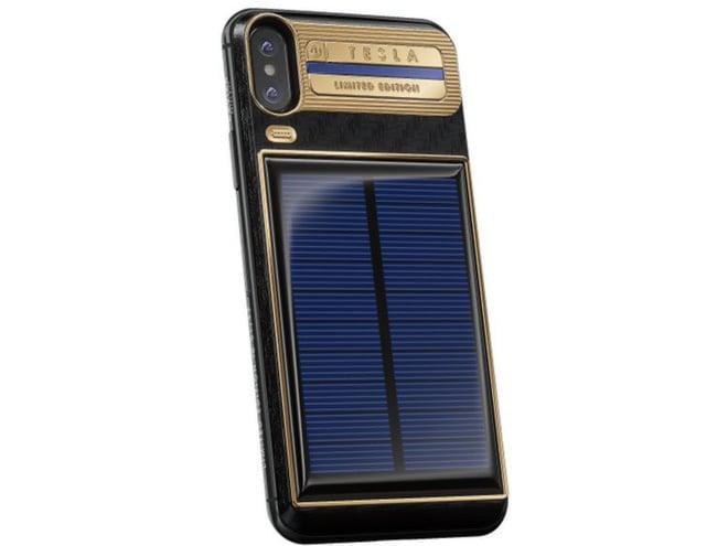 Xuất hiện iPhone X Tesla giá gần tỷ đồng, có pin mặt trời lướt web cả ngày không lo hết 5