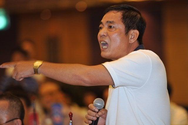 Hình ảnh Phó Chủ tịch VPF dọa nạt đòi