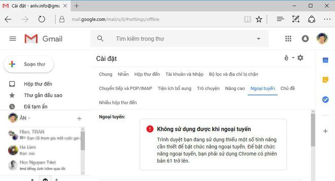 Hướng dẫn sử dụng Gmail không cần kết nối mạng - Ảnh 1.