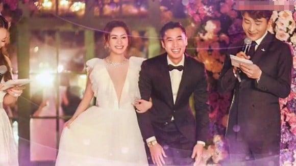 Hình ảnh cô dâu Chung Hân Đồng cười rạng rỡ trong đám cưới cùng hôn phu kém tuổi khiến fan rưng rưng vì xúc động 4