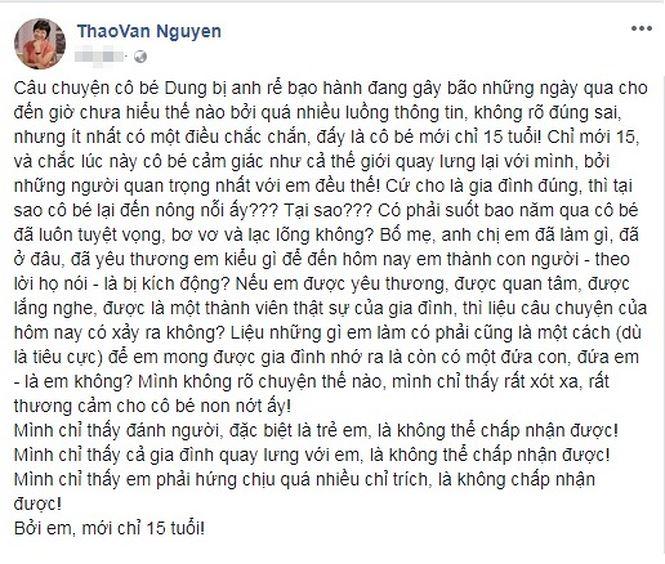 MC Thảo Vân viết tâm thư vụ nữ sinh tố BTV Minh Tiệp bạo hành 2