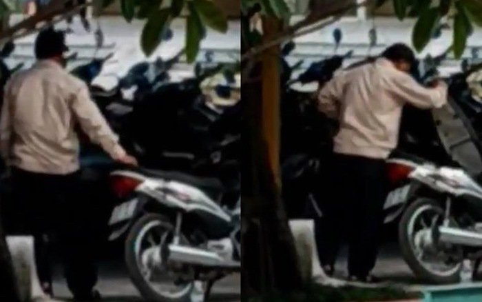 Hà Nội: Mất nhiều đồ đạc khi gửi xe, nhóm sinh viên quyết tâm đi rình và bắt quả tang bảo vệ móc cốp xe ở bãi gửi 1