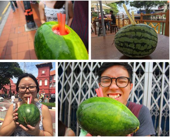 Trời hè nóng nực mà có món dưa hấu uống trực tiếp từ quả của Malaysia thì đúng là không còn gì tuyệt hơn 2