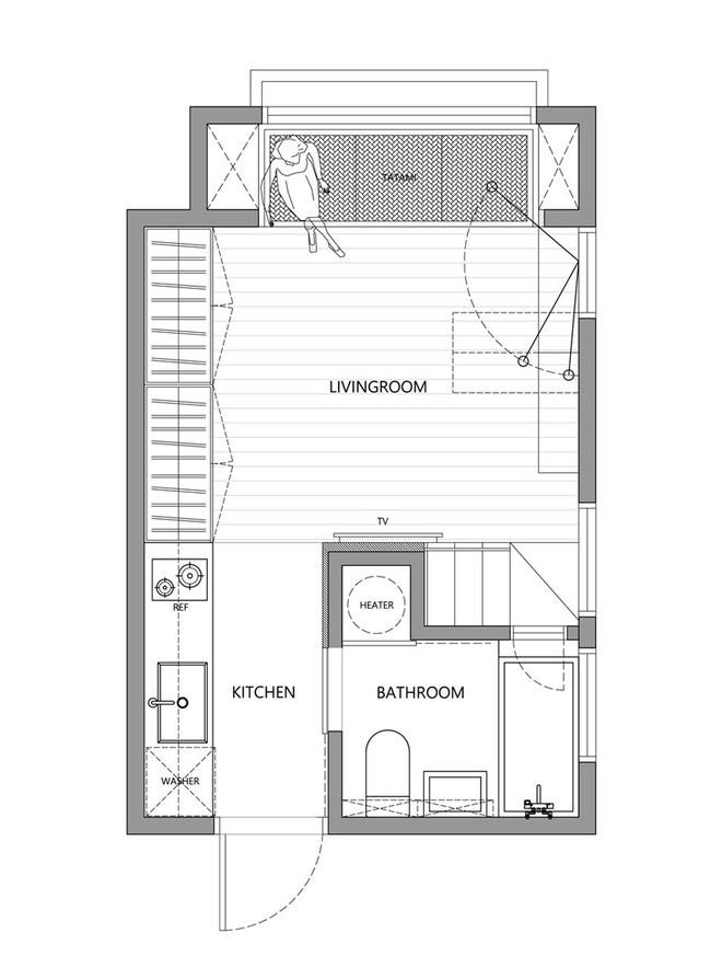 Sau khi xem những bức ảnh này, không ai có thể tin căn hộ đầy đủ tiện nghi quá đẹp, quá sang ấy lại chỉ có diện tích 22m2 - Ảnh 21.