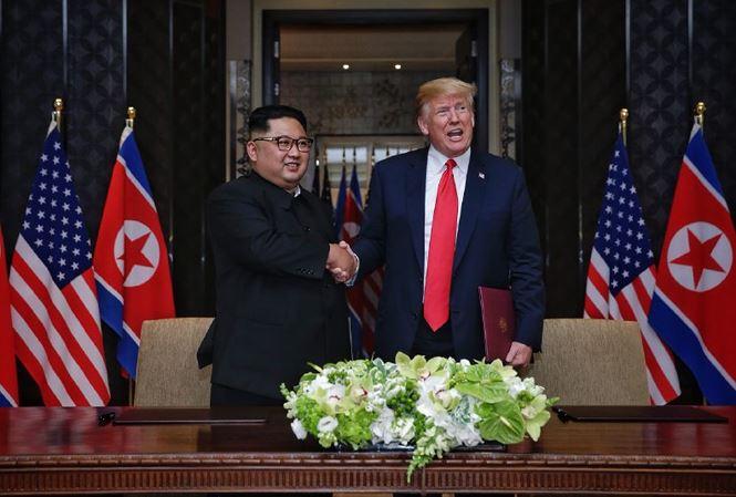 Hình ảnh Tổng thống Trump: Mỹ vẫn duy trì lệnh trừng phạt đối với Triều Tiên số 1
