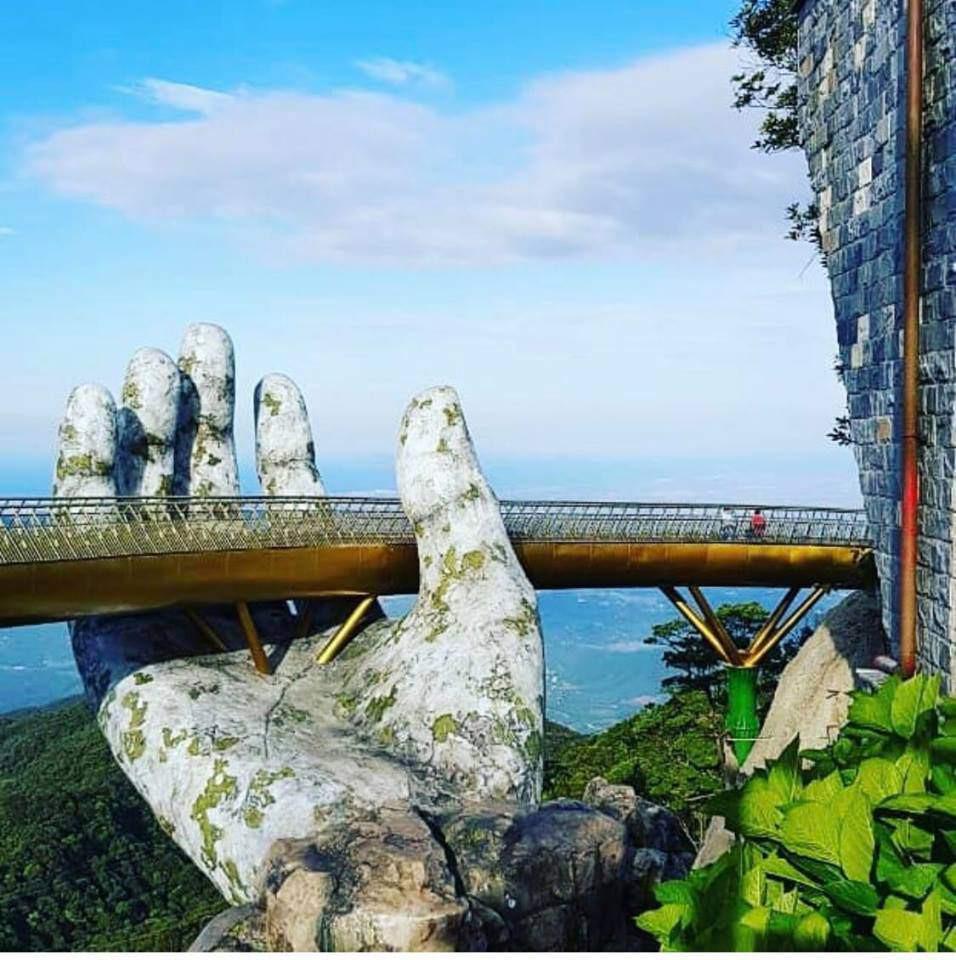 Dân tình 'bấn loạn' trước cây cầu vàng hình bàn tay khổng lồ ở Đà Nẵng, rần rần rủ nhau đến check in 6