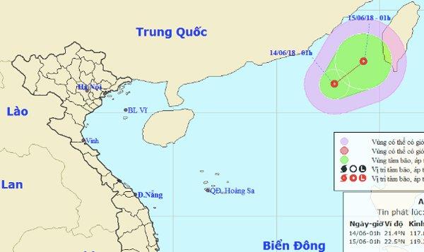 Xuất hiện áp thấp gần biển Đông 1