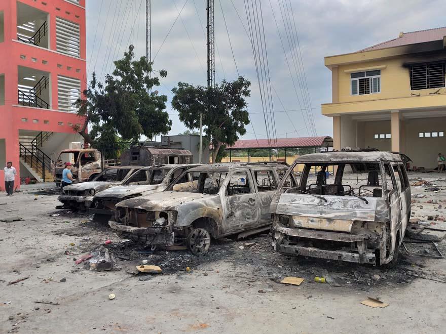 Khởi tố vụ gây rối, phá trụ sở công quyền tại Bình Thuận 1