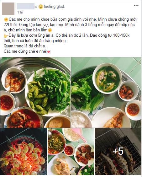 Cô gái khoe mâm cơm toàn các món cá dành cho 5 người, mất 3 tiếng bếp núc mỗi ngày, nhiều chị em chê quá ít, quá tốn thời gian 1