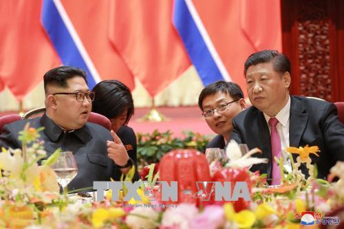 Nhà lãnh đạo Triều Tiên hội đàm với Chủ tịch Trung Quốc 1