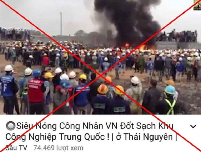 """Thái Nguyên bác tin đồn """"công nhân Việt Nam đốt khu công nghiệp Trung Quốc"""" 1"""