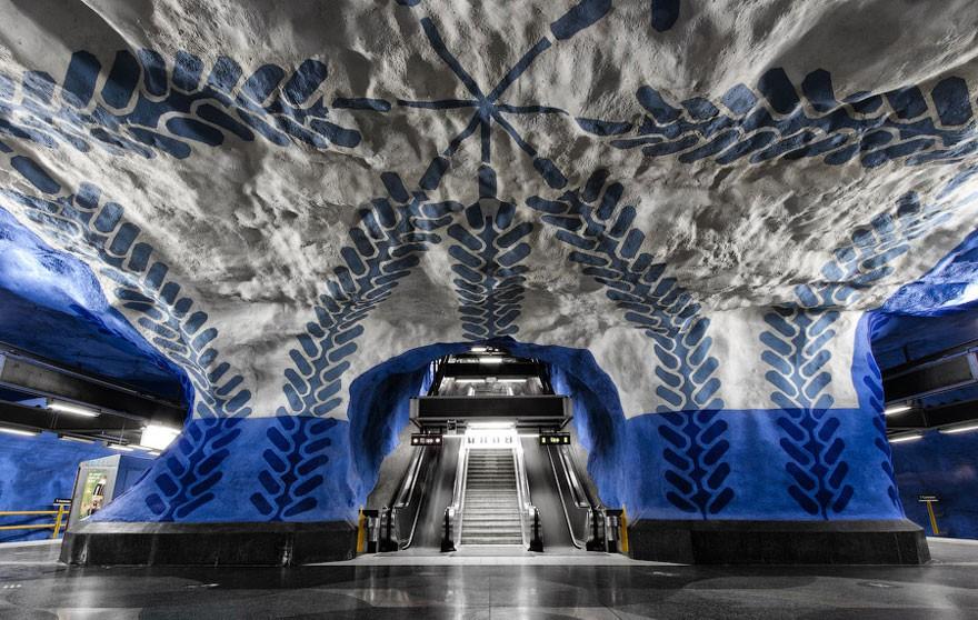 Bên trong những ga tàu điện ngầm đẹp hơn cả triển lãm nghệ thuật tại Thụy Điển 4