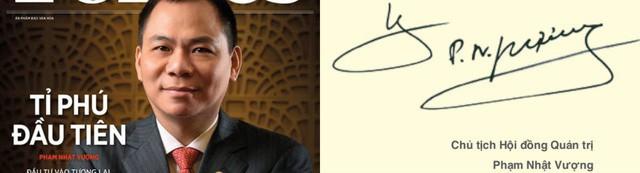 Xem chữ ký đáng giá nghìn tỷ của các doanh nhân quyền lực trên thương trường Việt  - Ảnh 1.