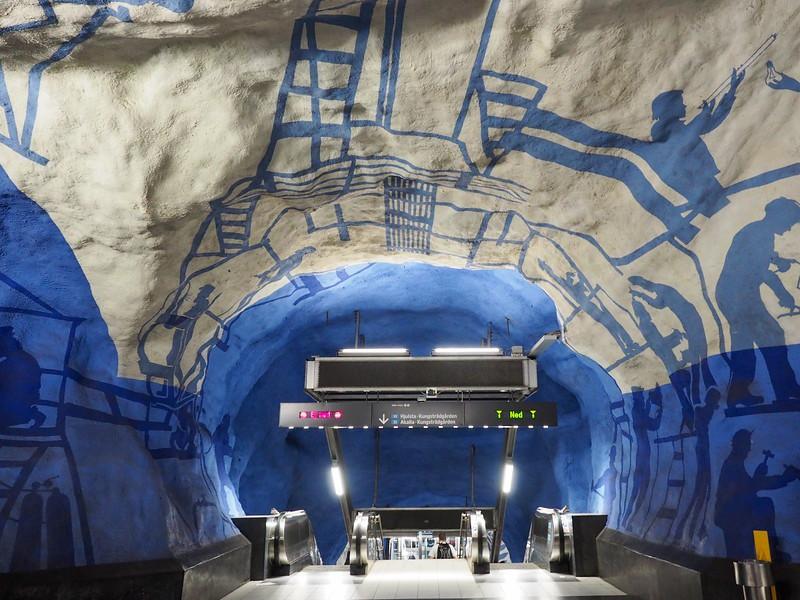 Bên trong những ga tàu điện ngầm đẹp hơn cả triển lãm nghệ thuật tại Thụy Điển 5
