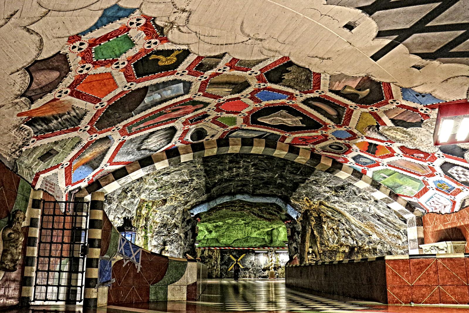 Bên trong những ga tàu điện ngầm đẹp hơn cả triển lãm nghệ thuật tại Thụy Điển 8