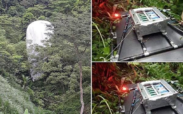 Vật thể lạ rơi xuống rừng Hà Giang không phải thiết bị dự báo thời tiết 1