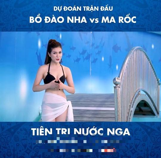 Cận cảnh vẻ nóng bỏng của MC mặc bikini dẫn World Cup gây xôn xao 2