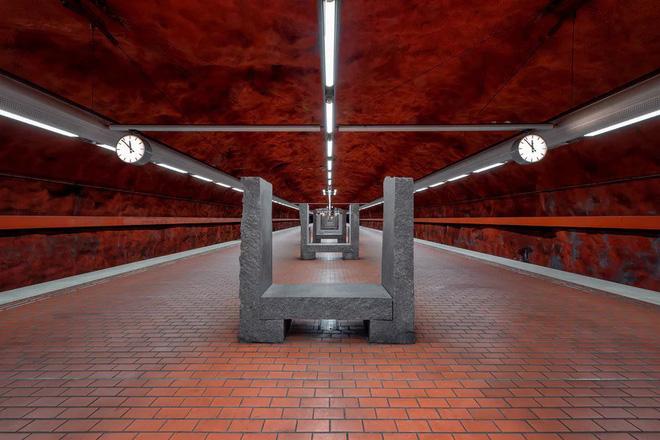 Bên trong những ga tàu điện ngầm đẹp hơn cả triển lãm nghệ thuật tại Thụy Điển 12