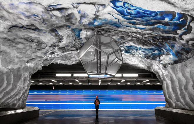 Bên trong những ga tàu điện ngầm đẹp hơn cả triển lãm nghệ thuật tại Thụy Điển 13