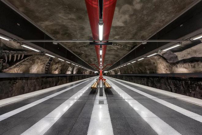 Bên trong những ga tàu điện ngầm đẹp hơn cả triển lãm nghệ thuật tại Thụy Điển 15